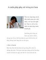 6 cách giúp phụ nữ trông trẻ hơn doc