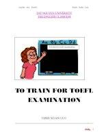 To train for toefl examination