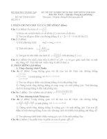 Đề và đáp án ôn luyện thi TN THPT năm 2010 (số 3)