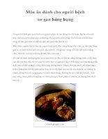 Món ăn dành cho người bệnh xơ gan báng bụng pot