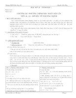 Giáo án Đại số 8 Học kỳ II