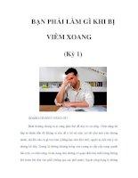 BẠN PHẢI LÀM GÌ KHI BỊ VIÊM XOANG (Kỳ 1) pdf