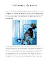 Xử lý tiêu chảy cấp ở trẻ em pptx