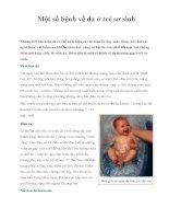 Một số bệnh về da ở trẻ sơ sinh docx