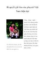 Bí quyết giữ lửa của phụ nữ Việt Nam hiện đại ppsx