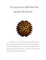 Hy vọng mới cho bệnh nhân viêm gan siêu vi B mãn tính pps