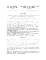 Quyết định Số: 3064/QĐ-BNN-KH ppt