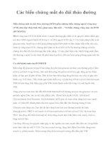 Các biến chứng mắt do đái tháo đường pdf