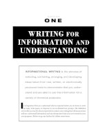 WRITING FOR INFORMATION AND UNDERSTANDING - Express yourself doc
