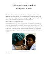 Giải quyết bệnh đau mắt đỏ trong mùa mưa lũ pdf