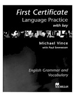 First Certificate language practice with key 1 ppsx