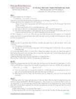 Một số đề thi học sinh giỏi Môn Hoá lớp 12 có đáp án