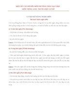 MỘT SỐ VẤN ĐỀ ĐỔI MỚI PHƯƠNG PHÁP DẠY HỌ2