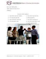 Trương Trung Nghĩa - Bài tập nhóm môn kinh tế quản lý - Chi phí ngắn hạn của doanh nghiệp potx