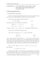 Chương 4: Các phương pháp hữu hạn giải quyết bài toán qui hoạch tuyến tính potx