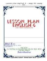 Lesson Plan English 6 ppsx