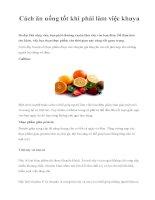 Cách ăn uống tốt khi phải làm việc khuya pdf