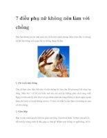 7 điều phụ nữ không nên làm với chồng pdf