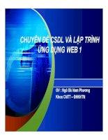 CHUYÊN ĐỀ CSDL VÀ LẬP TRÌNH ỨNG DỤNG WEB 1- P1 potx