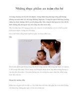 Những thực phẩm an toàn cho bé pdf