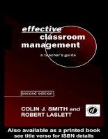Effective classroom management  a teachers guide