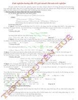 Kinh nghiệm hướng dẫn học sinh giải nhanh Bài toán trắc nghiệm ppsx