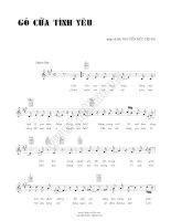 Bài hát gõ cửa tình yêu - Nguyễn Đức Trung (lời bài hát có nốt) pptx