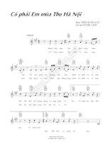 Bài hát có phải em mùa thu Hà Nội - Trần Quang Lộc (lời bài hát có nốt) ppt