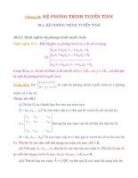 Chương 10: HỆ PHƯƠNG TRÌNH TUYẾN TÍNH pdf