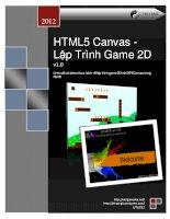 Lý thuyết và demo thực hành về lập trình game 2D với API Canvas trong Html5