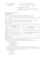 Đề thi HSG cấp tỉnh môn hóa 9-Tỉnh Bình Định (2005-2006)