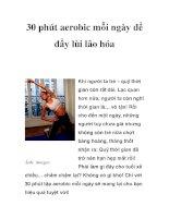 30 phút aerobic mỗi ngày để đẩy lùi lão hóa pps