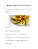 Những món salad ngon từ xoài chín ppt
