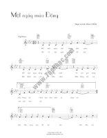 Bài hát một ngày mùa đông - Bảo Chấn (lời bài hát có nốt) pptx
