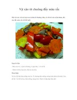 Vịt xào ớt chuông đầy màu sắc pptx