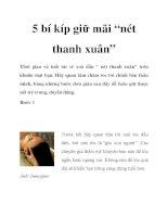 """5 bí kíp giữ mãi """"nét thanh xuân"""" pdf"""
