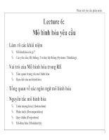 Lecture 6: Mô hình hóa yêu cầu ppsx