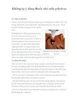 Không tự ý dùng thuốc nhỏ mắt polydexa potx