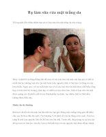 Tự làm sữa rửa mặt trắng da pdf