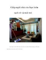 Giúp ngôi nhà của bạn luôn sạch sẽ và mát mẻ potx