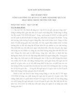 SÁNG KIẾN KINH NGHIỆM _ MỘT SỐ BIỆN PHÁP NÂNG CAO CÔNG TÁC QUẢN LÝ VÀ ĐIỀU HÀNH HIỆU QUẢ CÁC HOẠT ĐỘNG TRONG TRƯỜNG TIỂU HỌC