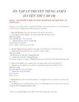 ÔN TẬP LÝ THUYẾT TIẾNG ANH 9 (LUYỆN THI VÀO 10)