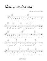 Bài hát cơn mưa lao xao - Nguyễn Ngọc Thiện (lời bài hát có nốt) ppt