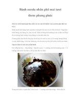 Bánh socola nhân phô mai tươi thơm phưng phức potx