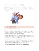 Hai cách sơ cứu nhanh khi trẻ bị hóc dị vật