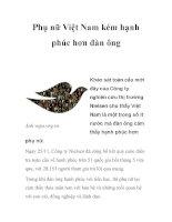 Phụ nữ Việt Nam kém hạnh phúc hơn đàn ông pps