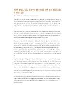 Hình thái, cấu tạo và các đặc tính cơ bản của vi sinh vật docx