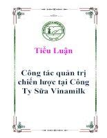 Tiểu luận: Công tác quản trị chiến lược tại Công Ty Sữa Vinamilk ppt