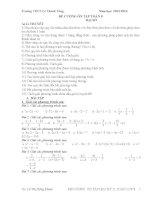 Đề cương ôn tập toán lớp 8 phần đại số