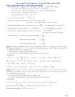 Các dạng bài tập điện xoay chiều có lời giải